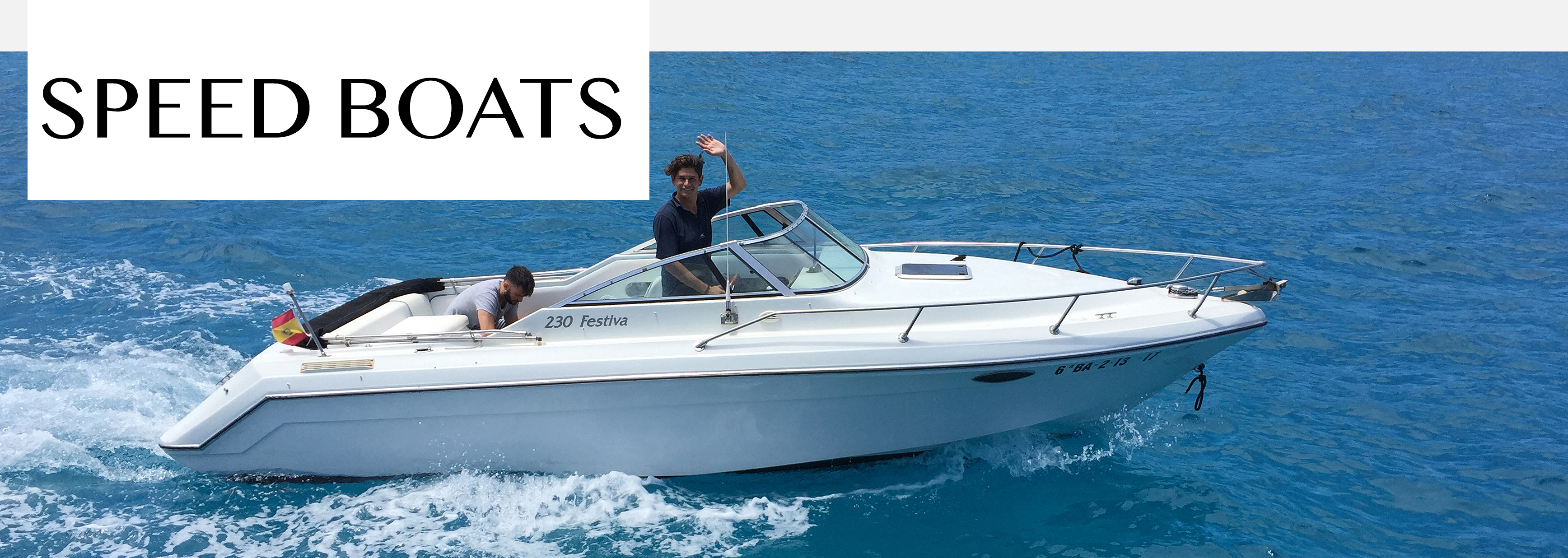 SPEED BOATS RENT